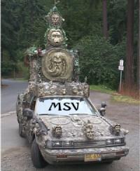 типичная клоунская машина
