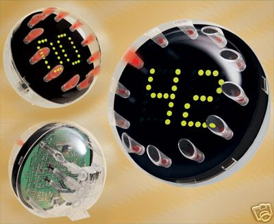 clear sphere clock